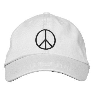 Broderad hatt för fred symbol