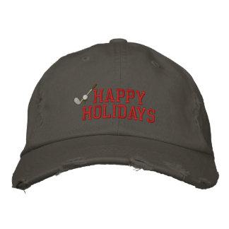Broderad hatt för glad helg Golf