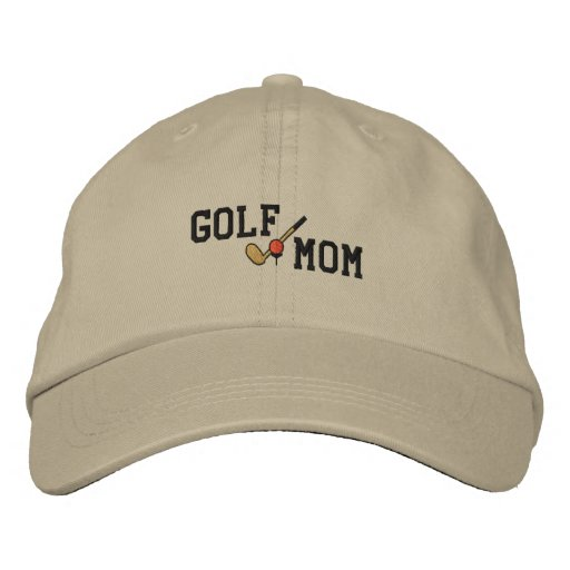 Broderad hatt för Golf mamma