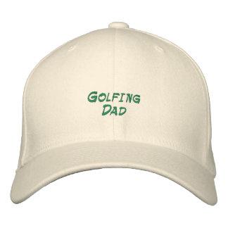Broderad hatt för golfspel pappa
