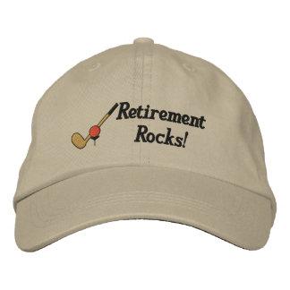 Broderad hatt för pension Golf