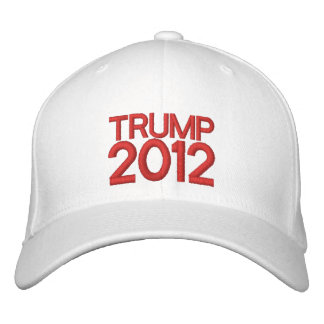 Broderad hatt för trumf 2012 broderad keps