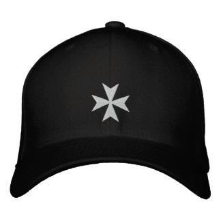 Broderad hatt för vit maltesisk kor broderad keps