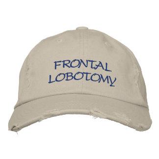 Broderad hatt. Frontal Lobotomy Hatt