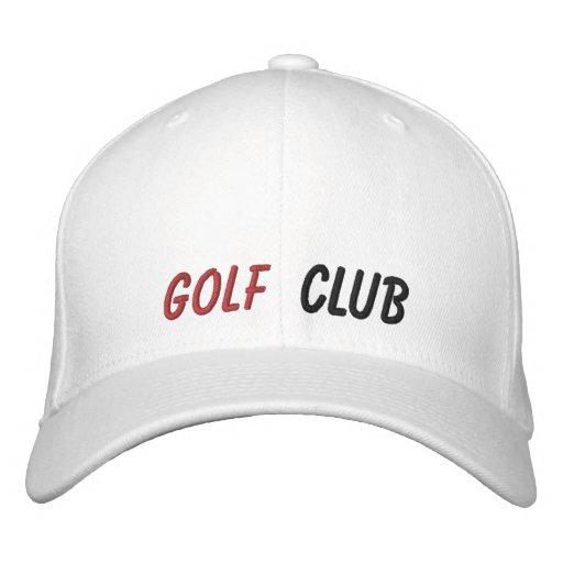 Broderad hattgolfklubb keps