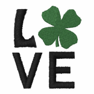 Broderad irländsk Poloskjorta för kärlek Broderade Polo Tröjor
