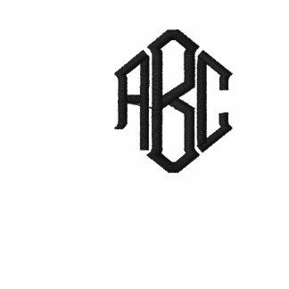Broderad Monogram för vit grundläggande tröja Sweatshirt