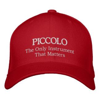 Broderad Piccolo hatt med slogan Broderad Keps
