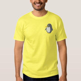 Broderad pingvinT-tröja Broderad T-shirt