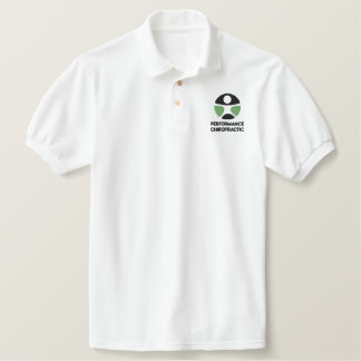 Broderad Poloskjorta för Chiropractic logotyp Broderad Pikétröja