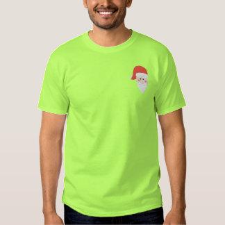 Broderad Santa T-tröja Broderad T-shirt