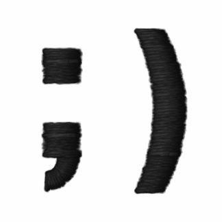 Broderad skjorta för Emoticonblinkning Smiley