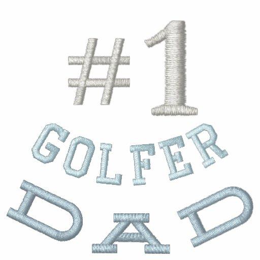 Broderad skjorta för Golf pappa Broderade Polo Tröjor
