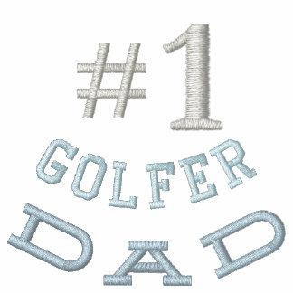 Broderad skjorta för Golf pappa Pikétröjor
