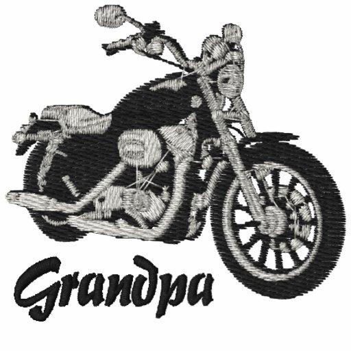 Broderad skjorta för morfar biker