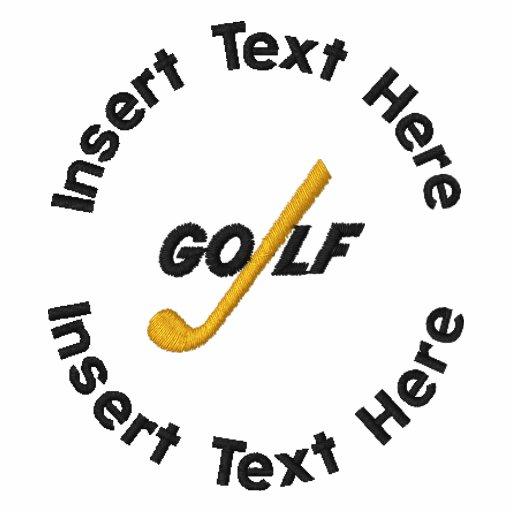 Broderad skjorta för pension Golf