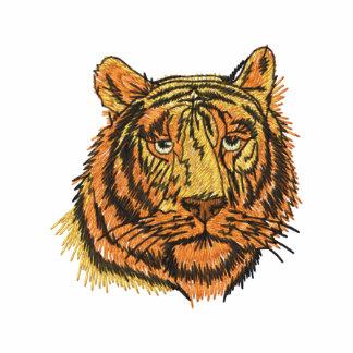 Broderad skjorta för tiger ansikte