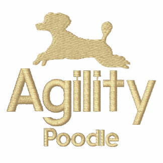 Broderad T-tröja för Agility pudel