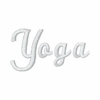 Broderad T-tröja för Yogasvartvit
