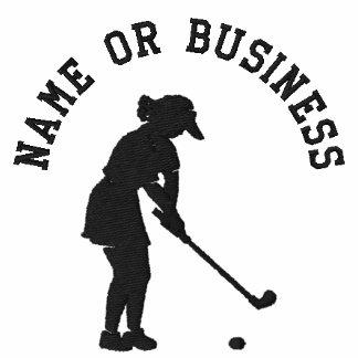 Broderade damer för Golf T skjorta, flickor