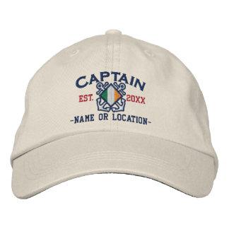 Broderi för irländsk kapten för personlig nautisk hatt