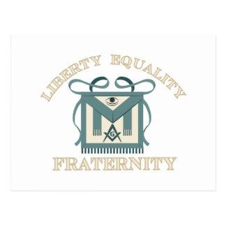 Broderskap för jämställdhet för vykort