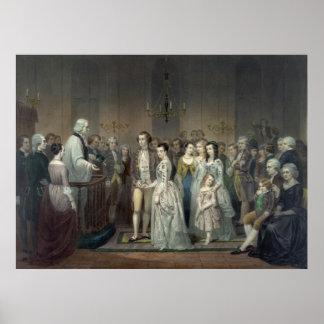 """Bröllop av George Washington"" tryck/affisch Poster"