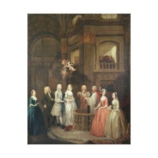 Bröllop av Stephen Beckingham och Mary Cox Canvastryck