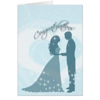 Bröllop Congratualtions Hälsningskort