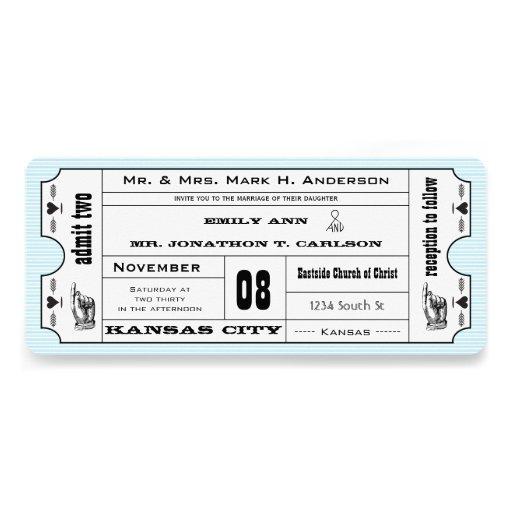 Bröllop för biljett för typografi för Aquavintage