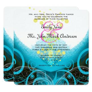 Bröllop för blomma för lilja för Calla för Fyrkantigt 13,3 Cm Inbjudningskort