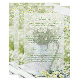Bröllop för blomma för Summerfield daisyCamomile 12,7 X 17,8 Cm Inbjudningskort