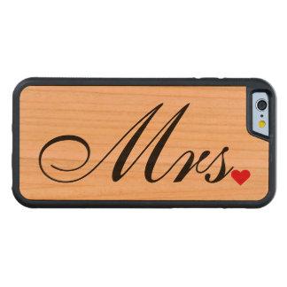 Bröllop för den Fru frubruden kopplar ihop iPhone 6 Fodral I Körsbärsträ
