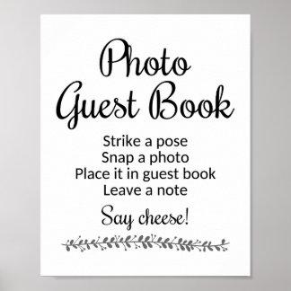 Bröllop för fotogästboken undertecknar - Rochester Poster