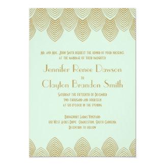 Bröllop för Mint för kammussla för 12,7 X 17,8 Cm Inbjudningskort