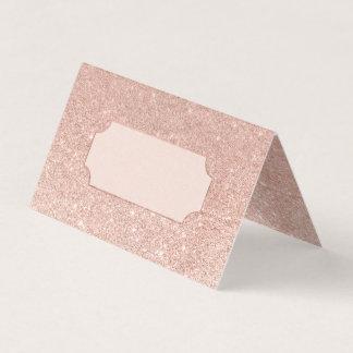 Bröllop för ombre för rosa guld- fauxglitter rosa placeringskort