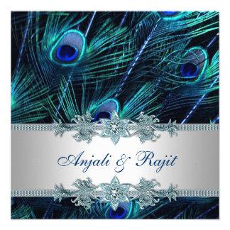 Bröllop för påfågel för blått för kungligt blåttsi