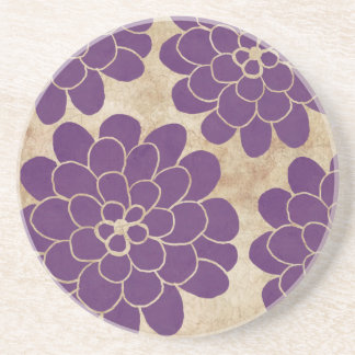 Bröllop för purpurfärgad Dahlia för vintage blom- Underlägg Sandsten