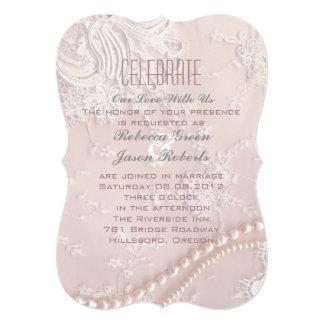 Bröllop för rodnad för snöre för art 12,7 x 17,8 cm inbjudningskort