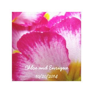 Bröllop för rosablommapersonlig canvastryck