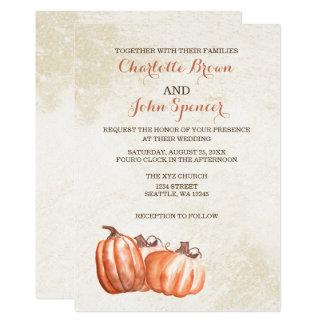 bröllop för skörd för vattenfärgpumpanedgång 12,7 x 17,8 cm inbjudningskort