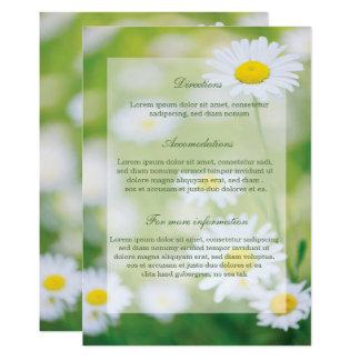 Bröllop för sommar för daisydaisyblomma blom- 12,7 x 17,8 cm inbjudningskort