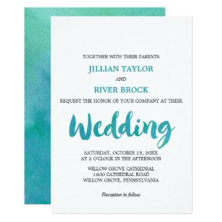 Bröllop för strand för 12,7 x 17,8 cm inbjudningskort