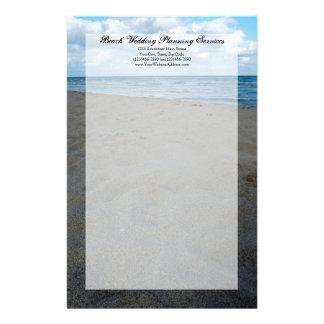 Bröllop för strand för blått- och bruntSands~ Brevpapper
