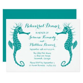 Bröllop för strand för krickarepetition 12,7 x 17,8 cm inbjudningskort