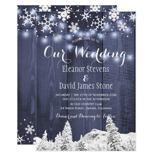 Bröllop för underland för vinter för 12,7 x 17,8 cm inbjudningskort