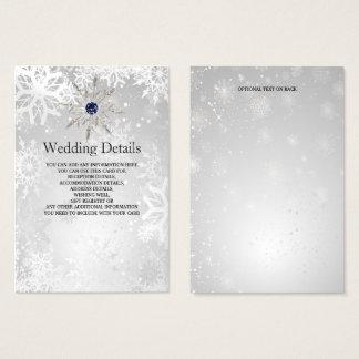 bröllop för vintern för silvermarinsnöflingor visitkort