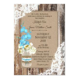 Bröllop för Wood snöre för bukett för 12,7 X 17,8 Cm Inbjudningskort