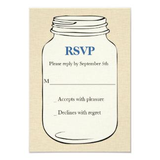 Bröllop OSA för Masonburkstil 2 - blått 8,9 X 12,7 Cm Inbjudningskort