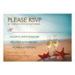 Bröllop OSA för solnedgångstrandromantiker Kort För Inbjudningar
